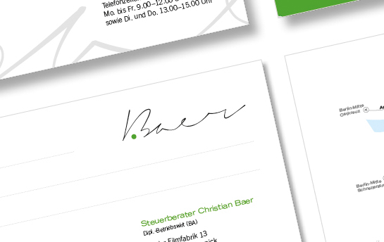 Graphicsson - Design -Steuerberater Christian Baer
